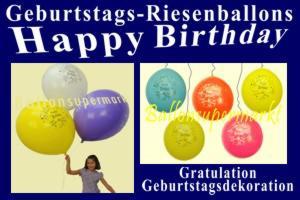 Riesenballons zur Dekoration der Geburtstagsfeier