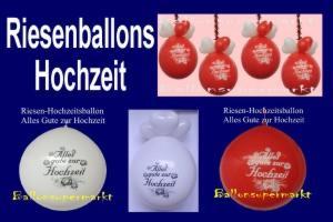 Riesenballons zur Dekoration von Hochzeiten: Alles Gute zur Hochzeit