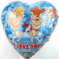 Folienballon singt I Love You