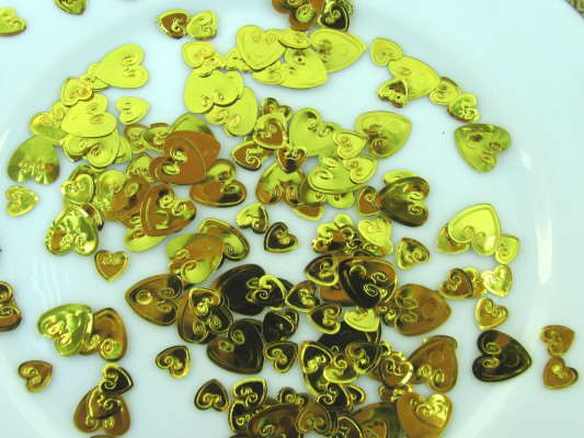 "Konfetti ""Loving Hearts Gold"" 2"