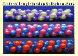 Luftballongirlanden Do it yourself Selbstbau Sets
