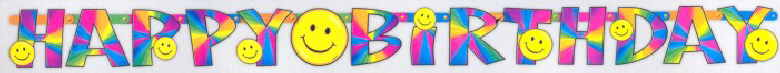 Geburtstag Smiley Banner Happy Birthday 1