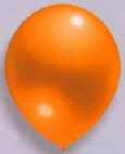 Latexballons Metallic orange
