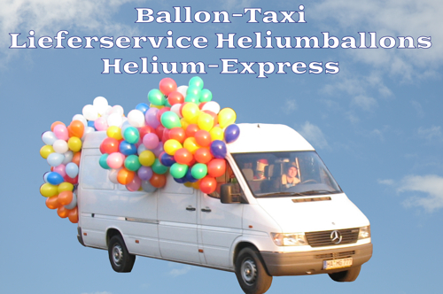 Ballon-Taxi Lieferservice Heliumballons, Helium-Express