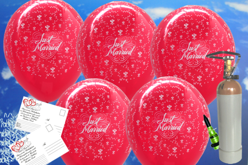 Ballons-Helium-Midi-Set-Hochzeit-50-rote-Luftballons-Just-Married