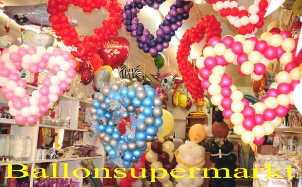 Ballonsupermarkt: Hochzeitsdeko mit Luftballons