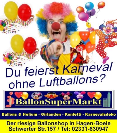 Luftballons und Ballons auf Karneval und Fasching
