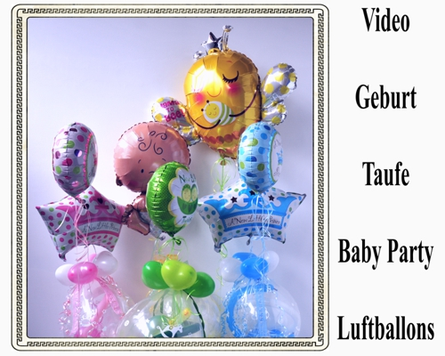 Video: Luftballons und Dekoration: Baby Party, Geburt, Taufe