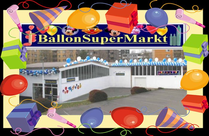 Ballonsupermarkt, der Party-Deko-Shop